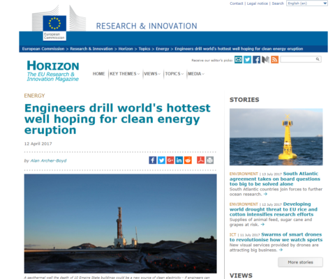 HORIZON 2020 magazine news on DEEPEGS